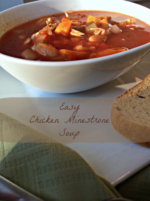 Easy Chicken Minestrone Soup