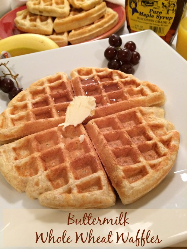 Buttermilk Whole Wheat Waffles