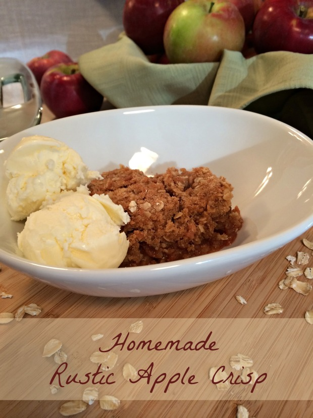 Homemade Rustic Apple Crisp