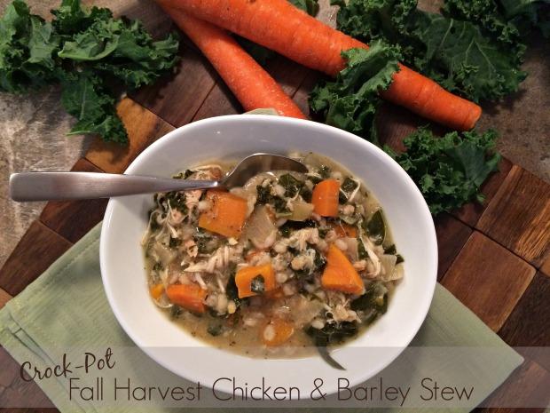 Crock-Pot Fall Harvest Chicken & Barley Stew