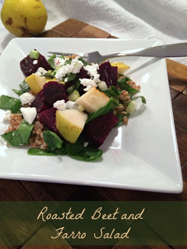 Roasted Beet and Farro Salad