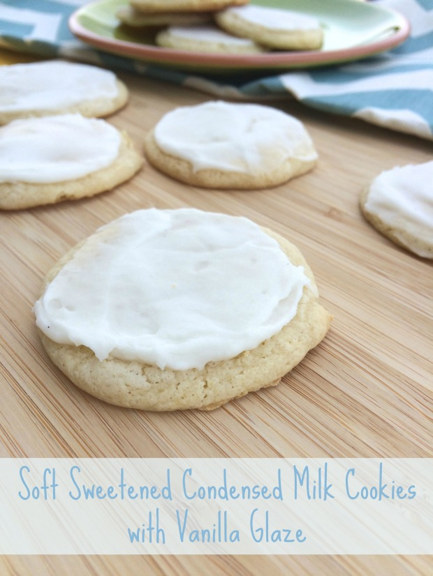 Soft Sweetened Condensed Milk Cookies with Vanilla Glaze
