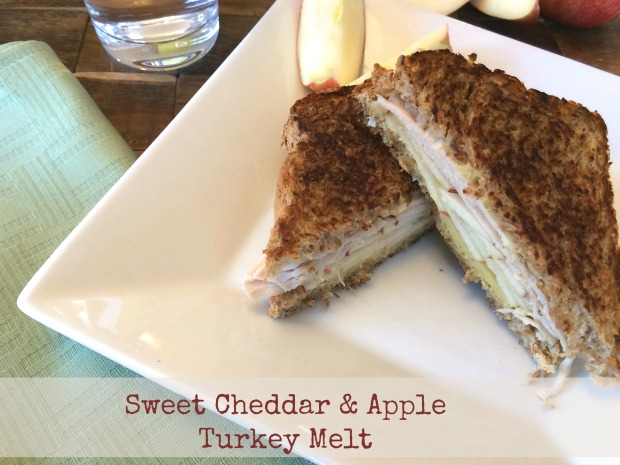 Sweet Cheddar & Apple Turkey Melt Sandwich