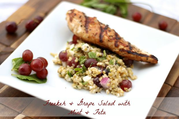 Freekeh & Grape Salad with Mint & Feta