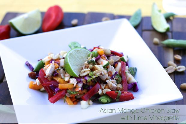 Asian Mango Chicken Slaw