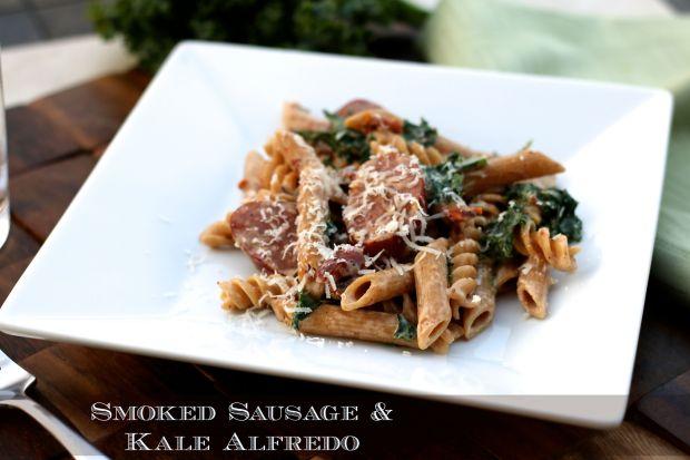 Smoked Sausage & Kale Alfredo
