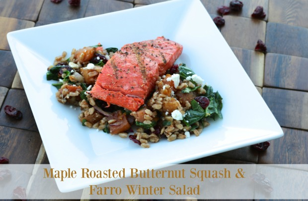 Maple Roasted Butternut Squash & Farro Winter Salad