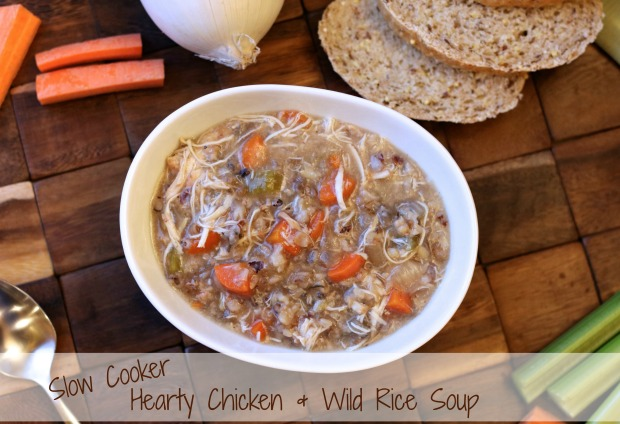 Slow Cooker Hearty Chicken & Wild Rice Soup