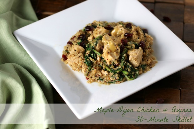 Maple-Dijon Chicken & Quinoa Skillet