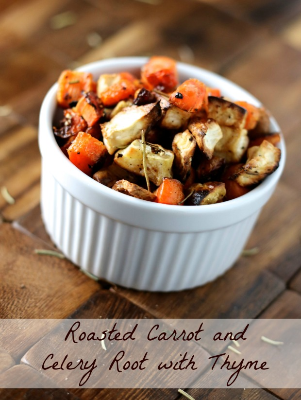 Roasted Carrot and Celery Root with Thyme